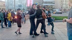 Звягинцев задержание на Арбате