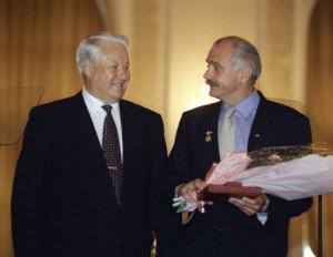 Ельцин и Михалков