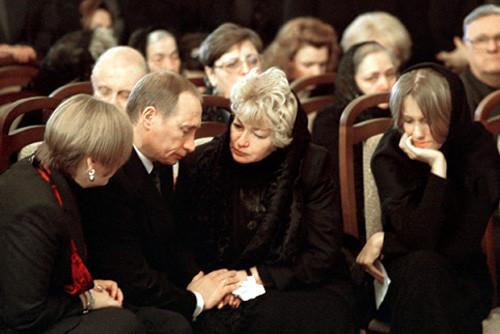 Собчак Путин на похоронах