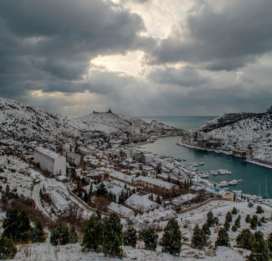 севастополь зимой фото какая-то карт