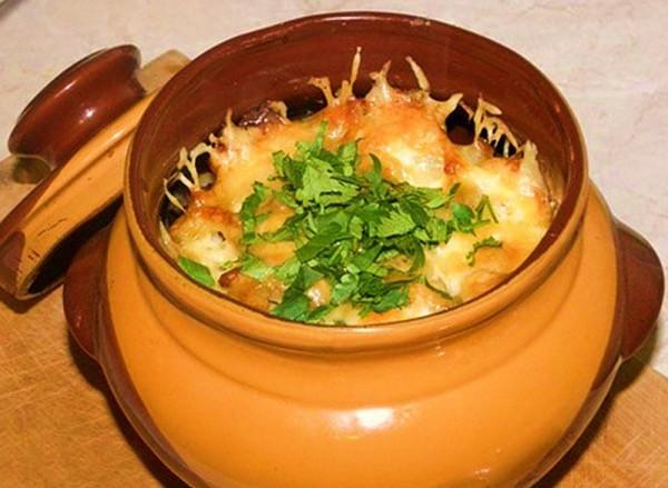 Говядина в горшочке без картошки в духовке