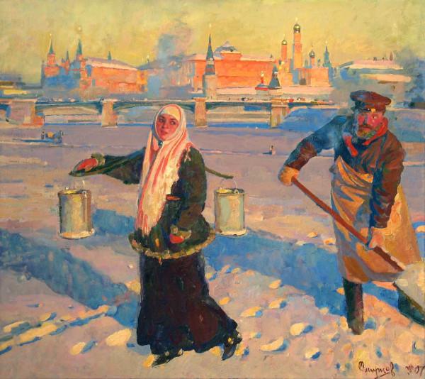 Крещенский мороз в Москве Сергей Смирнов