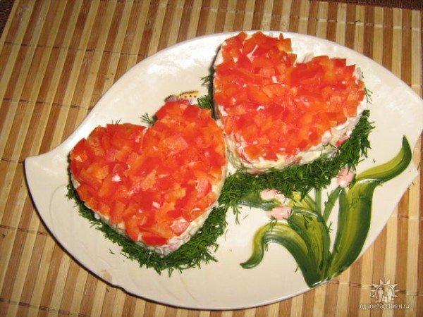 Салати з ковбасою фото