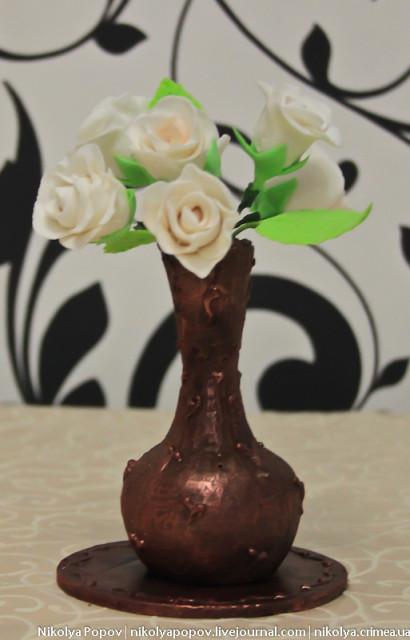 Фигурка из шоколада на 8 Марта