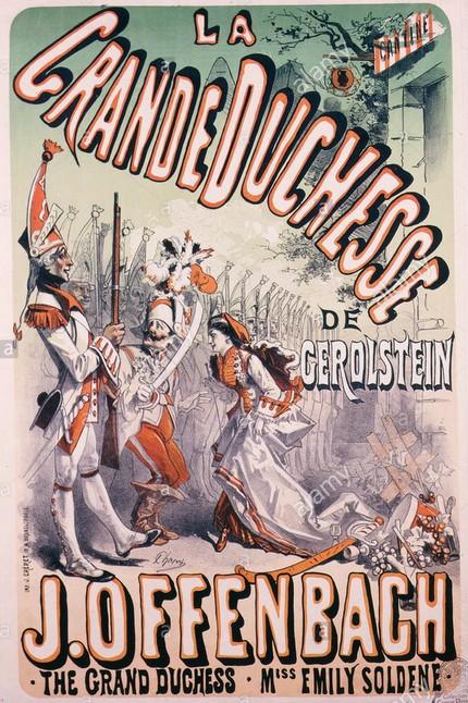 ВЕЛИКАЯ ГЕРЦОГИНЯ ГЕРОЛЬШТЕЙНСКАЯ. АФИША ПРЕМЬЕРНОГО СПЕКТАКЛЯ. 1867