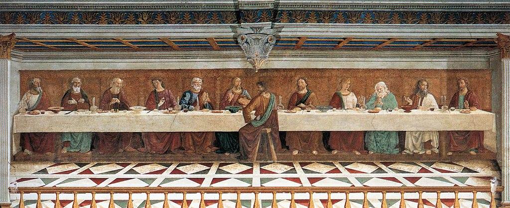 Доменико Гирландайо. Тайная вечеря. Фреска  аббатства Пассиньяно. 1476