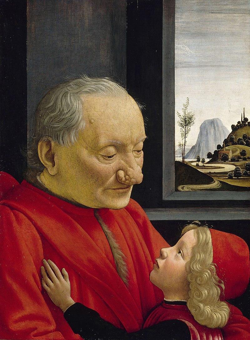 Доменико Гирландайо. Портрет старика с внуком. 1480-е