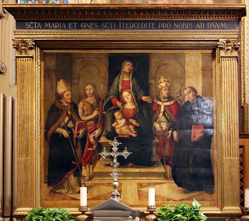 Граффионе. Мадонна и святые на троне. Ок.1510