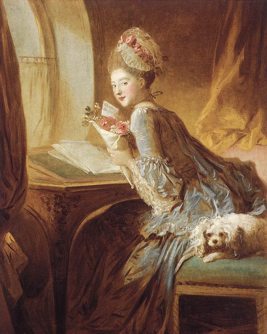Жан Оноре Фрагонар. Любовное послание. Нач 1770-х гг.