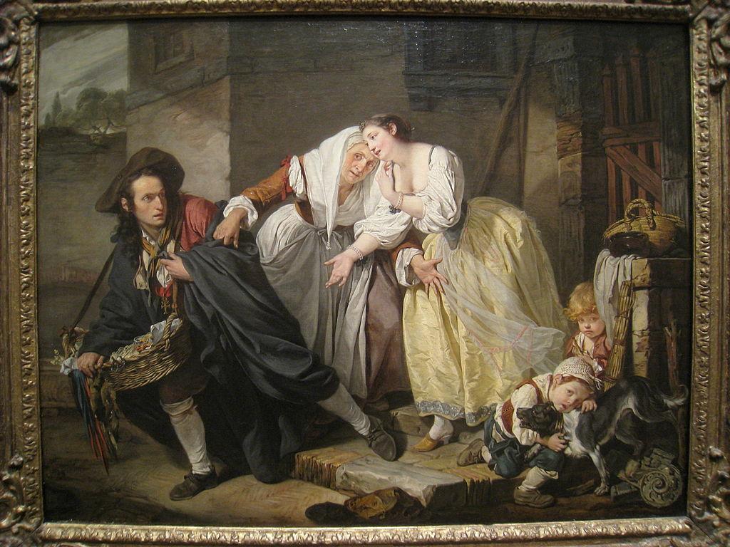 Жан Батист Грез. Неаполитанская сценка. 1757