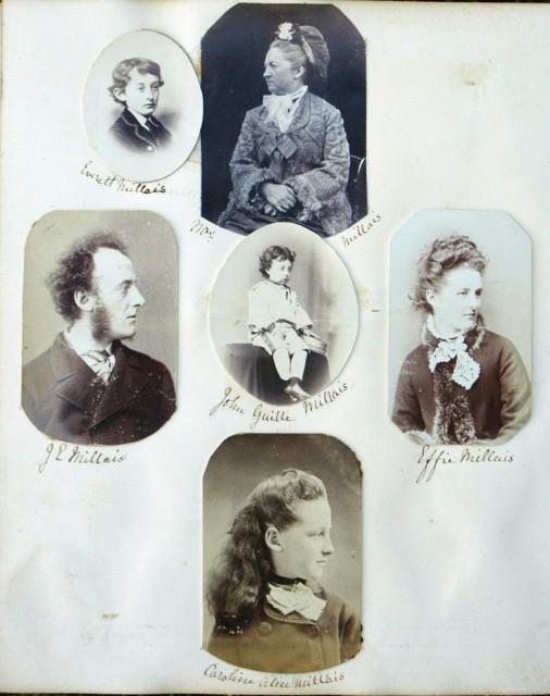Фотографии семьи Джона Эверетта Миллеса ок.1870 г. Эффи Миллес-Джеймс — крайняя справа