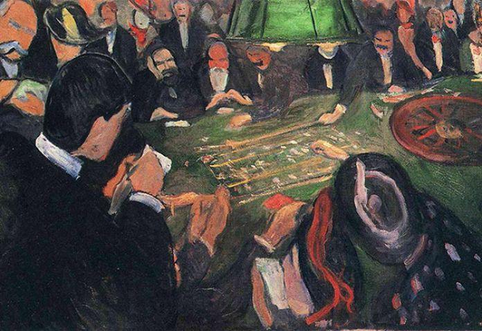 Эдвард Мунк. За рулеточным столом в Монте-Карло. 1892