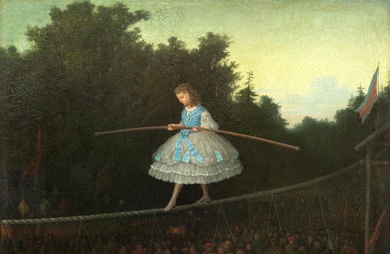 Леонид Соломаткин. По канату (Канатоходка). 1866