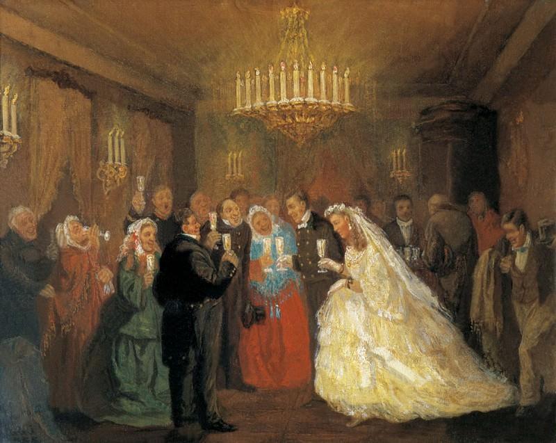 Леонид Соломаткин. Свадьба. 1872