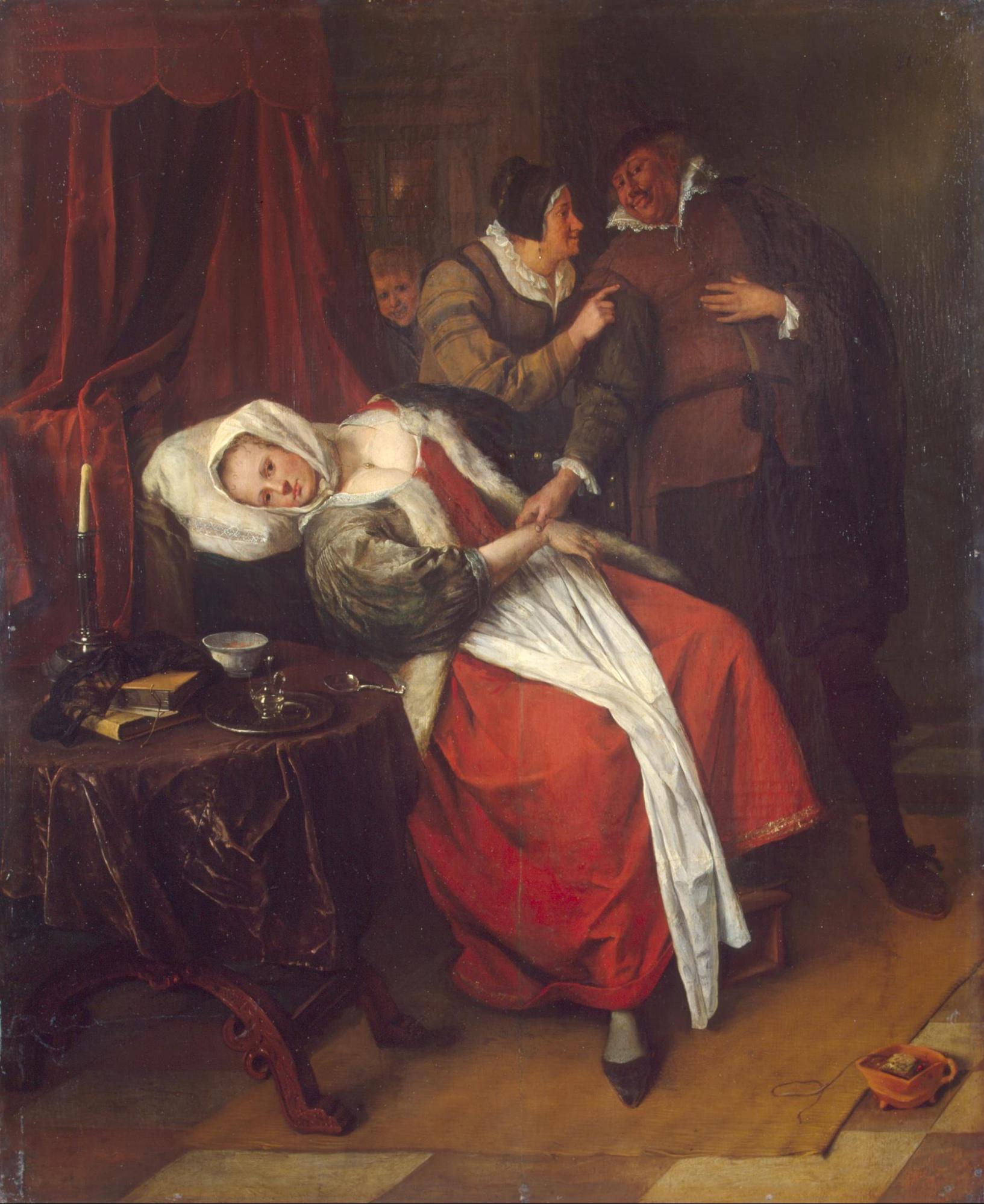 Ян Стен. Больная и врач. Ок. 1660