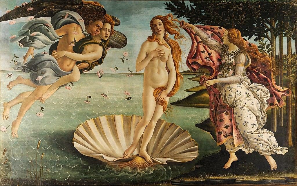 Сандро Боттичелли. Рождение Венеры. 1482—1486
