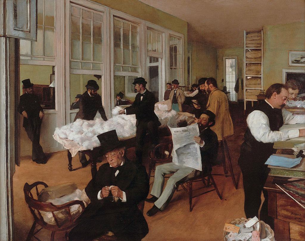 Эдгар Дега. Хлопковая контора в Новом Орлеане. 1873