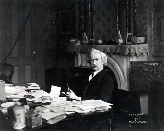 Марк Твен. Фотография 1901 г.