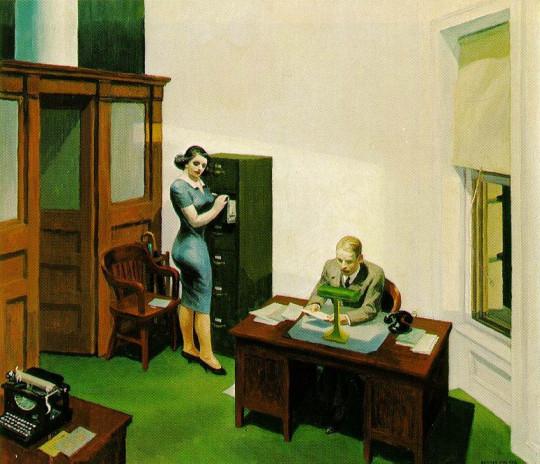 Эдвард Хоппер. Офис ночью. 1940
