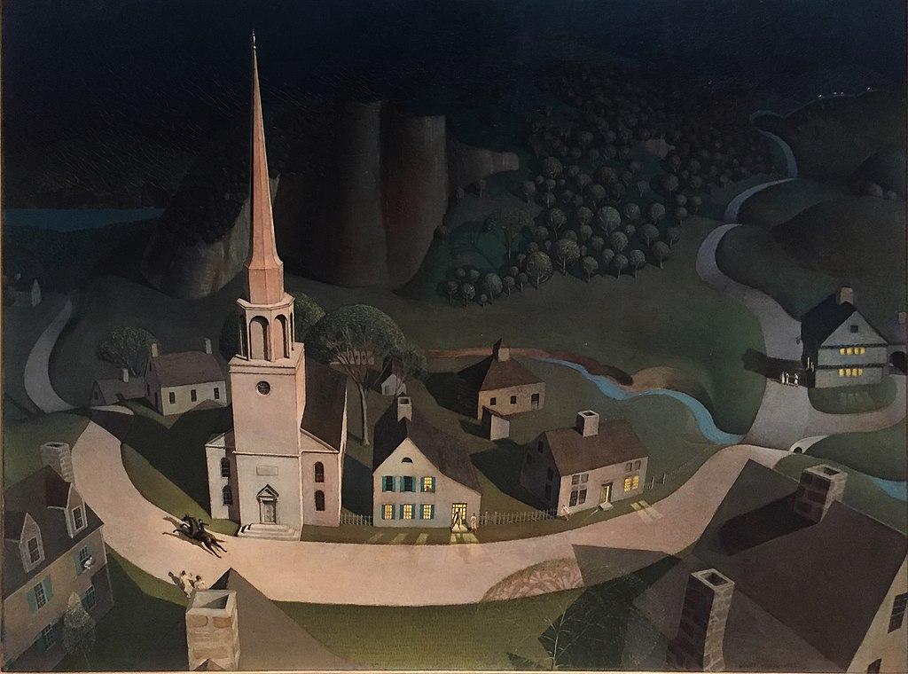 Грант Вуд. Полуночная поездка Пола Ревира. 1931