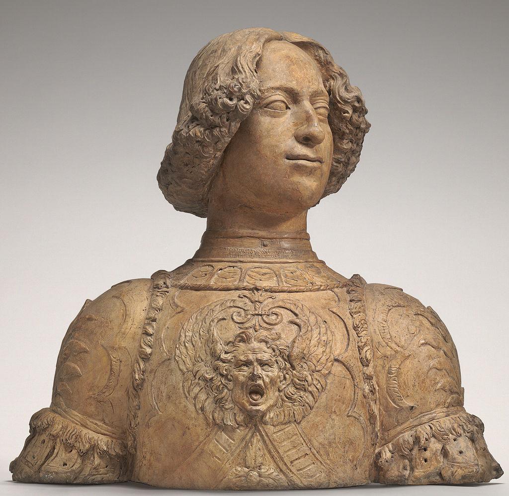 Андреа Вероккьо. Бюст Джулиано Медичи. 1475-78