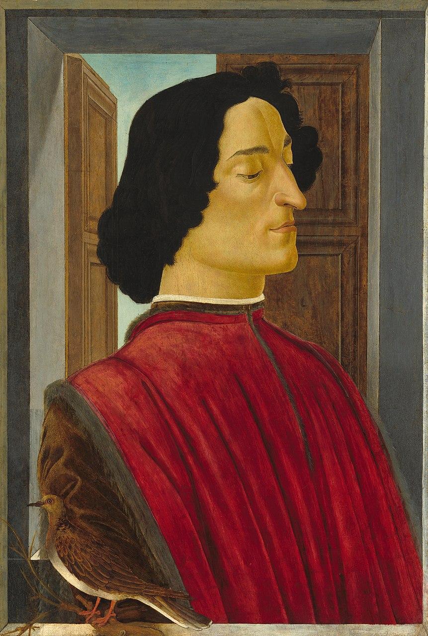 Сандро Боттичелли. Портрет Джулиано Медичи. Ок.1478