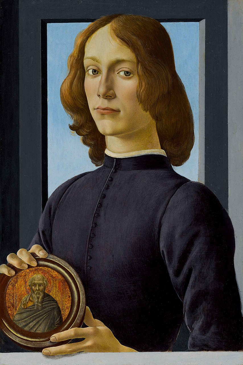 Сандро Боттичелли (?). Портрет юноши с медалью. Ок.1480 г.