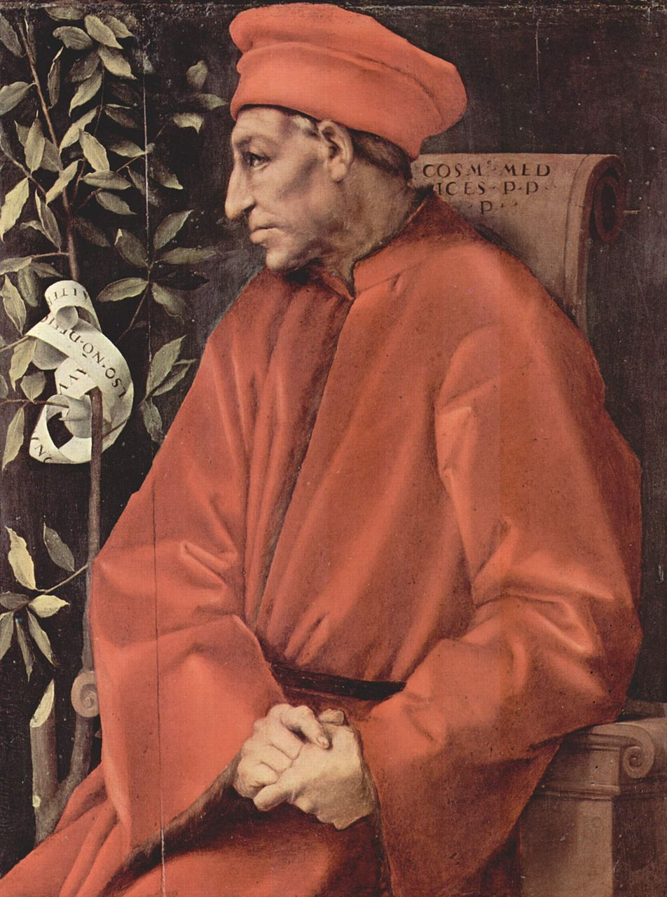 Аньоло Бронзино. Портрет Козимо Старшего
