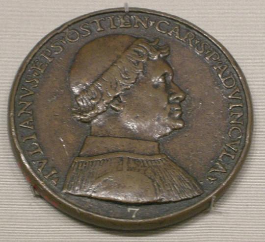 Джованни ди Кандида. Медаль кардинала Джулиано делла Ровере (будущий папа римский Юлий II)