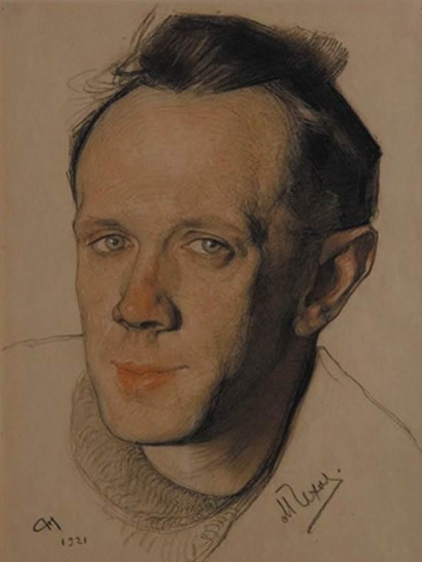 Николай Андреев. Портрет артиста Михаила Чехова. 1921