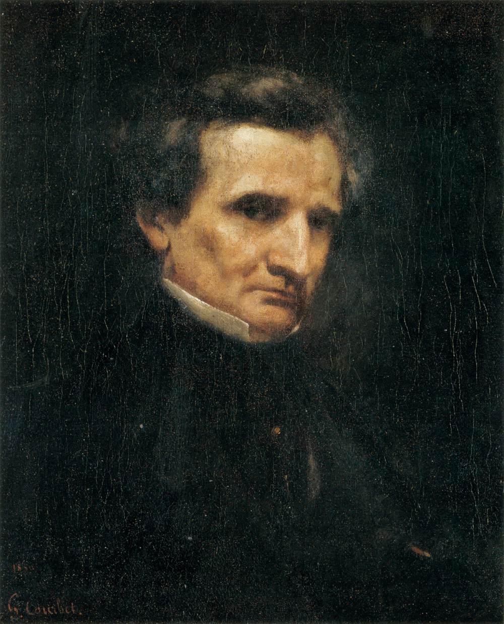 Гюстав Курбе. Портрет Гектора Берлиоза. 1850