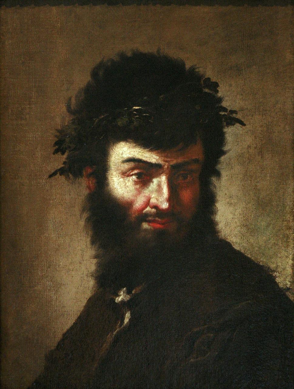 Сальвадор Роза. Автопортрет в образе Диогена. Ок.1645