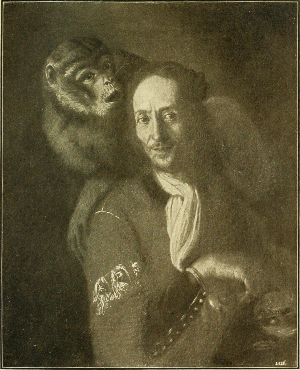 Сальвадор Роза. Автопортрет с обезьяной
