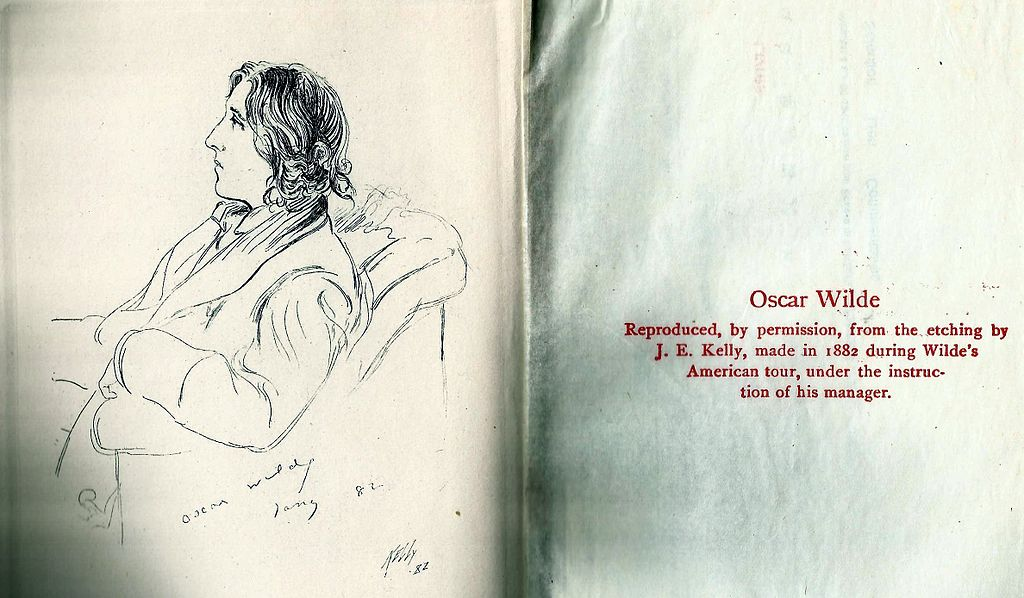 Дж.Э.Келли. Оскар Уайльд. Набросок, сделанный во время путешествия писателя по США в 1882 г