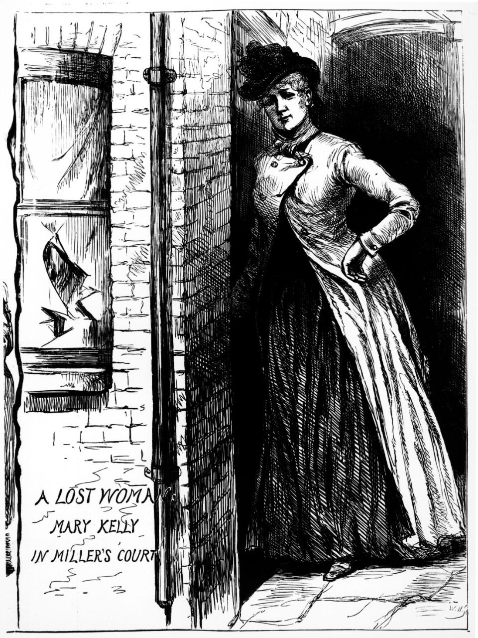 """Мэри Джейн Келли. Иллюстрация из """"The Penny Illustrated Paper"""", 24 ноября 1888 г."""