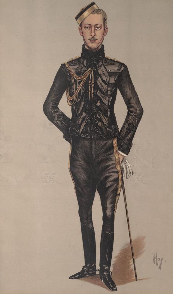 Карикатура на принца Эдди в журнале Vanity Fair от 13 октября 1888 года