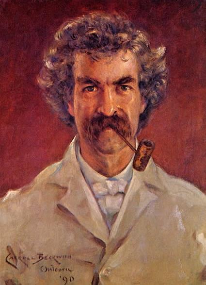 Джеймс Беквит. Портрет Марка Твена. 1890
