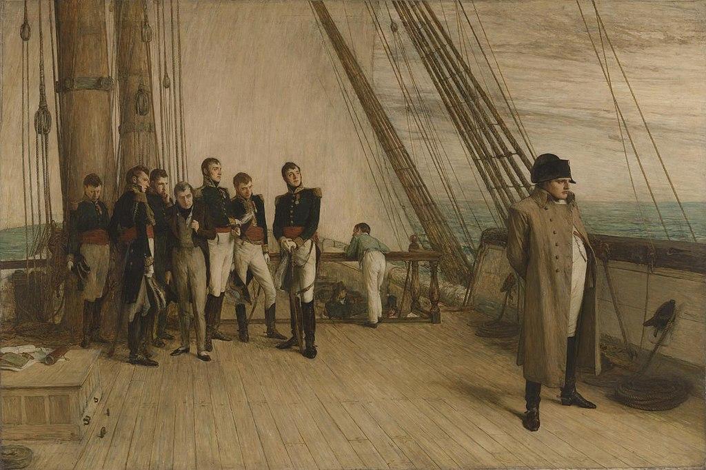 Уильям Куиллер Орчардсон. Наполеон на борту «Беллеферона». 1880