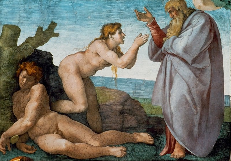 Микеланджело Буонарроти. Сотворение Евы. Фреска Сикстинской капеллы