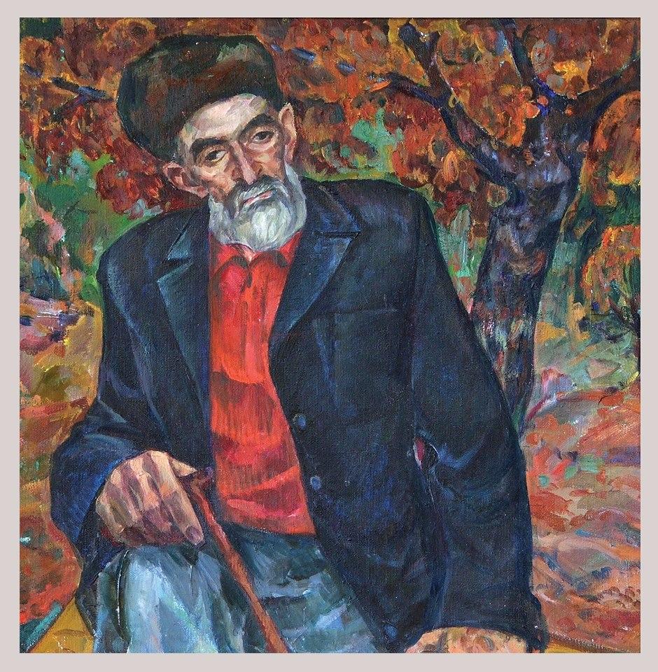 Хайруллах Курбанов. Портрет Абуталиба Гафурова. 1968