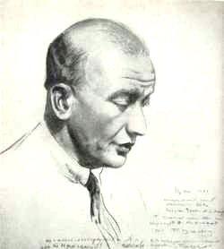 Борис Кустодиев. Портрет Федора Нотгафта. 1910