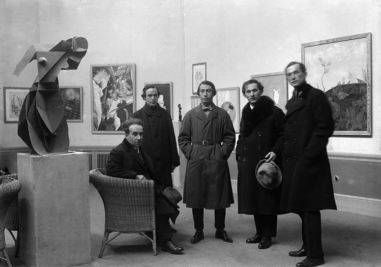 Первая русская художественная выставка в галерее Ван Димена. Фотография Вилли Ремера. 1922