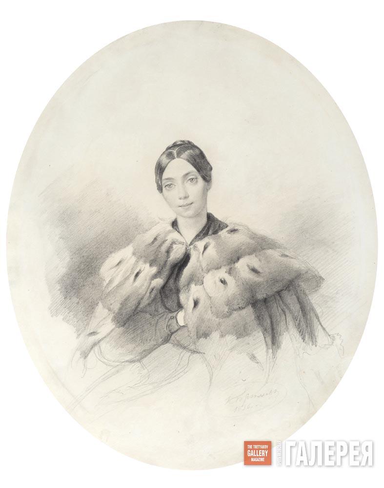 Карл Брюллов. Портрет Л.К.Маковской. 1836