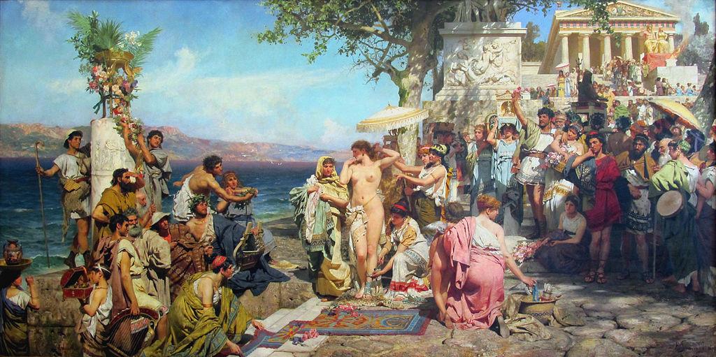 Генрих Семирадский. Фрина на празднике Посейдона в Элевсине. 1889