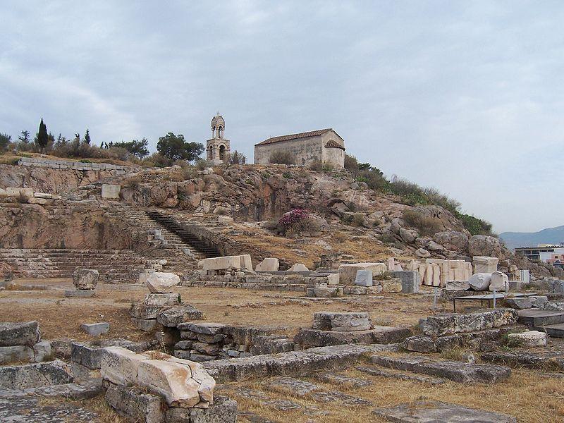 Элевсин. Современный вид. Раскопки храма Деметры