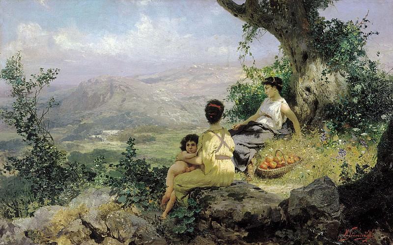 Генрих Семирадский. Отдых. 1890