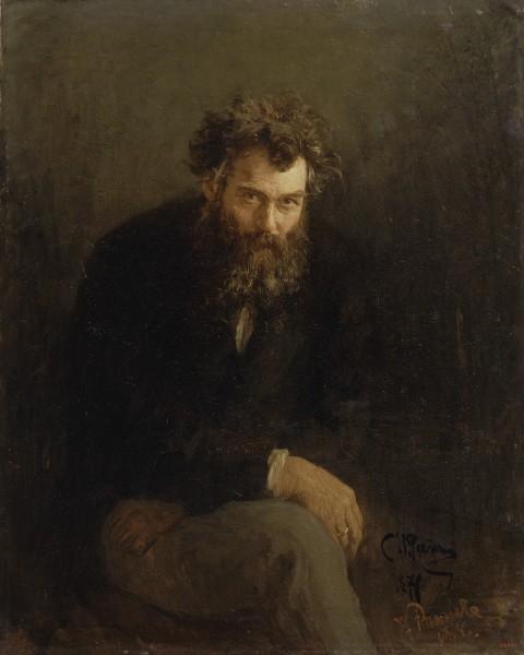 Илья Репин. Портрет художника Ивана Шишкина.  1876