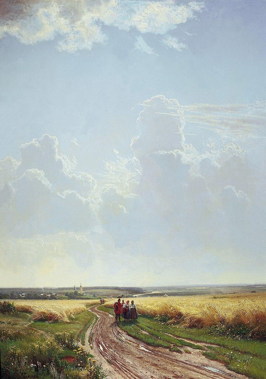 Иван Шишкин. Полдень. В окрестностях Москвы. 1869