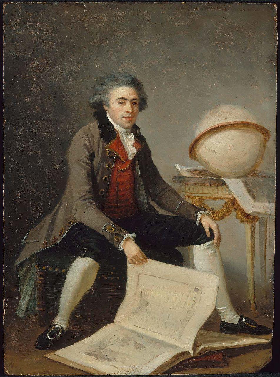 Маргарита Жерар. Портрет мужчины с большой книгой. 1785