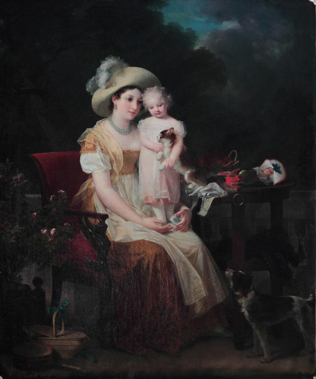 Маргарита Жерар. Портрет женщины с дочерью